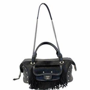 CHANEL Paris Dallas Pony Hair Leather  Bowling Bag